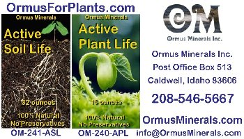 Ormus Minerals plant info card web