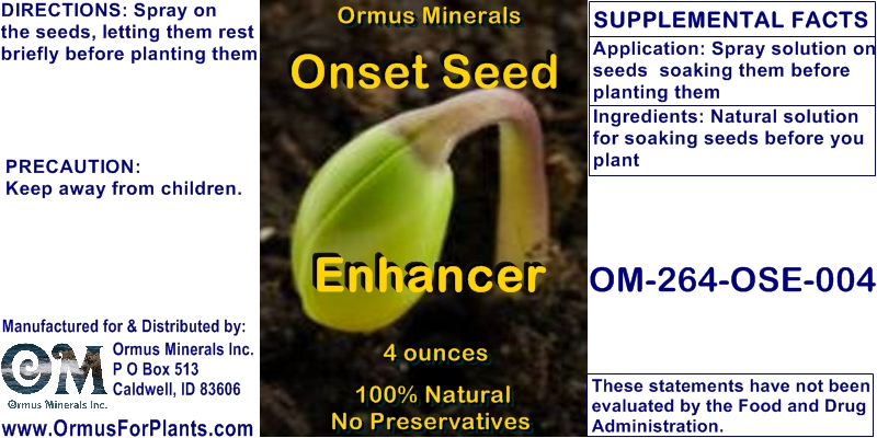Ormus Minerals - Onset Seed Enhancer